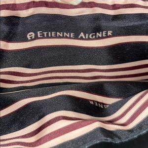 ETIENNE AIGNER BLACK LEATHER SHOULDER BAG!! 👜👜